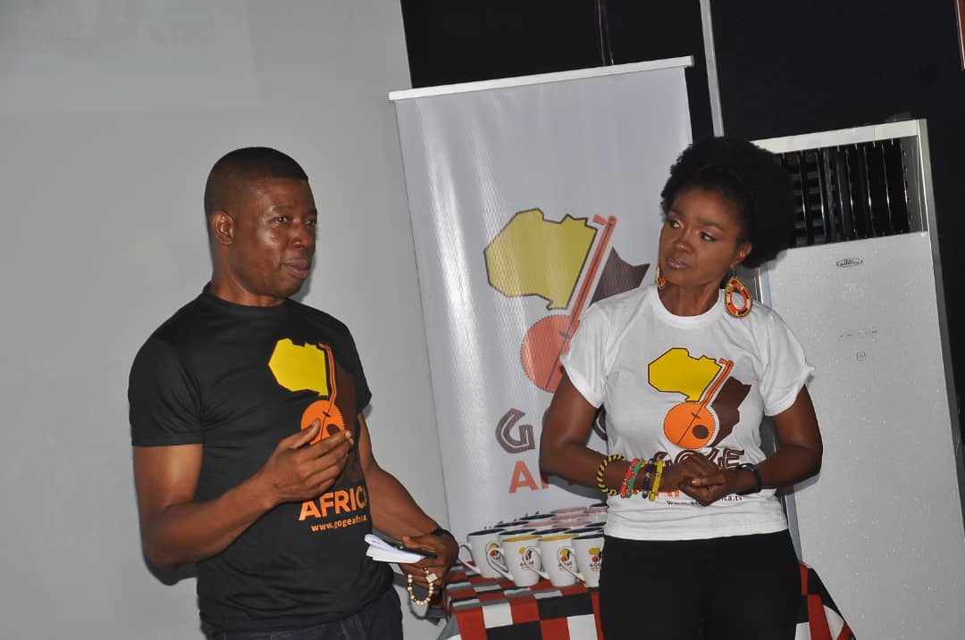 Isaac & Nneka Moses at the New Logo Unveiling