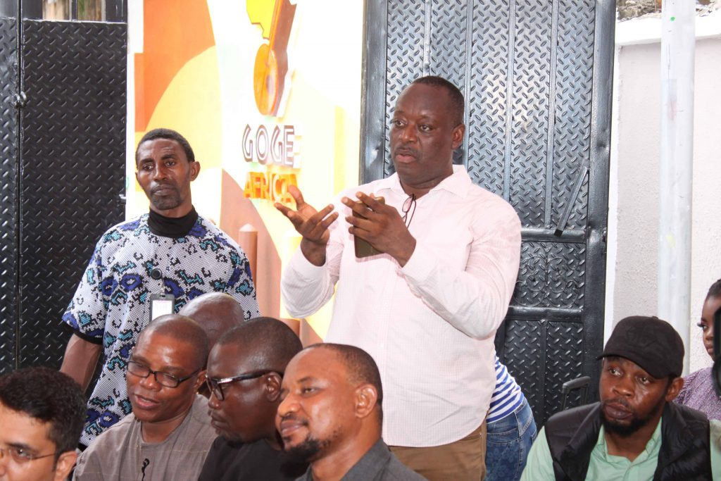 Head of Entertainment, Silverbird Group, Alozie Uzokwu asking a question.